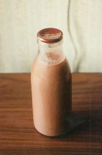 chocoladevla ouderwetse fles