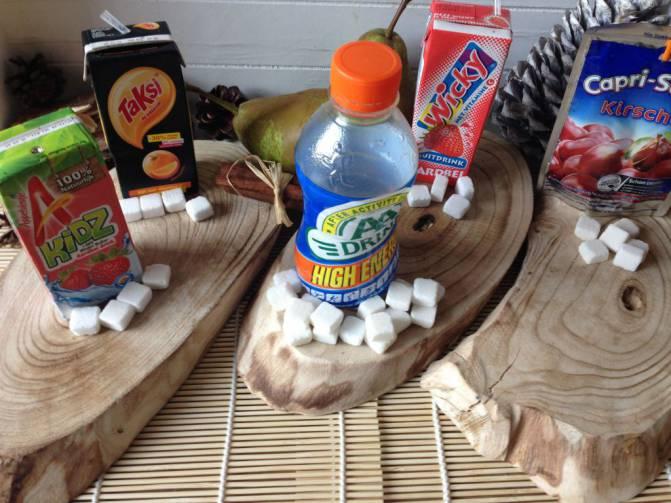 suikerklontjes pakjes drank