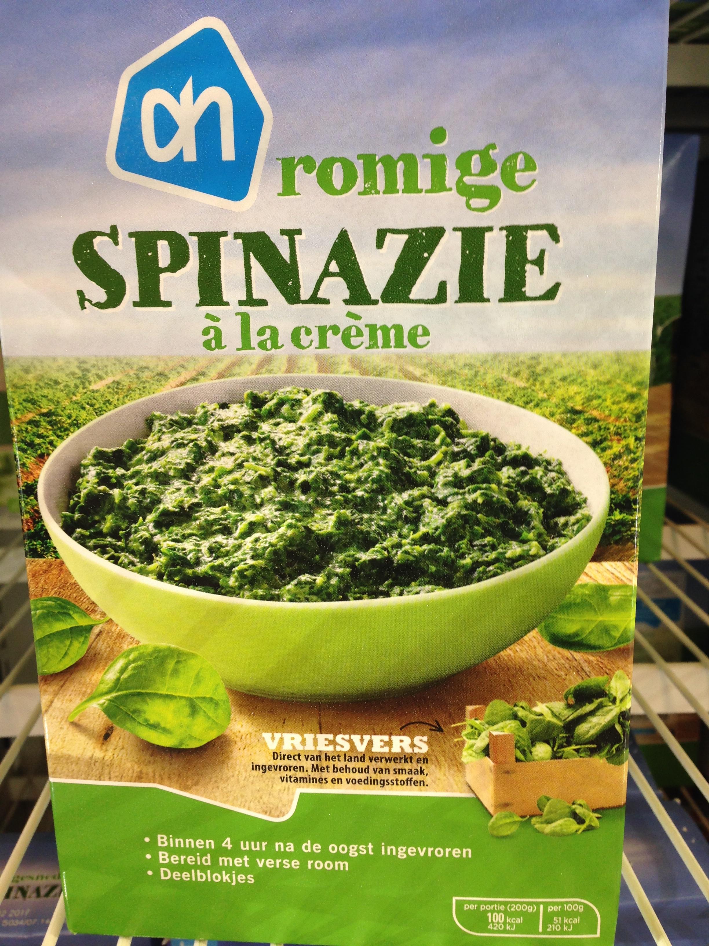 diepvries spinazie