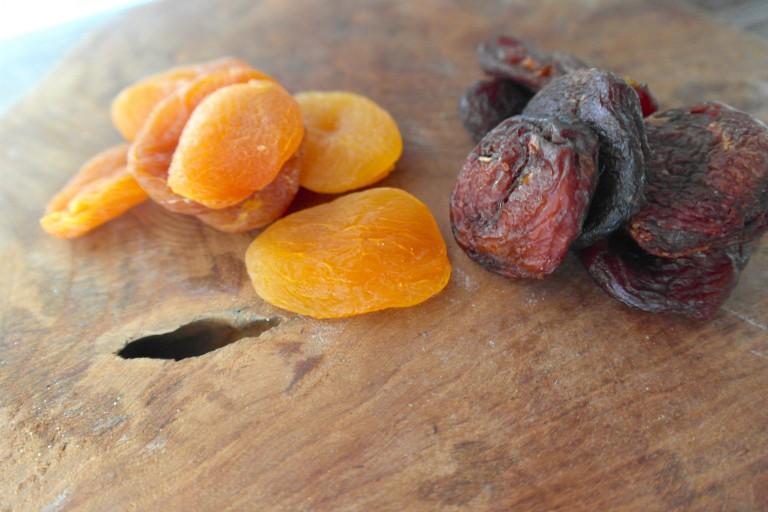 abrikozen gedroogde
