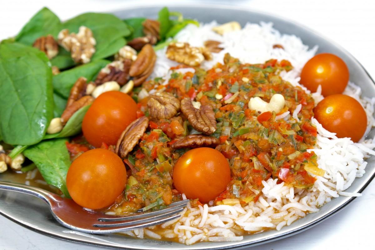 veganistisch recept met rijst