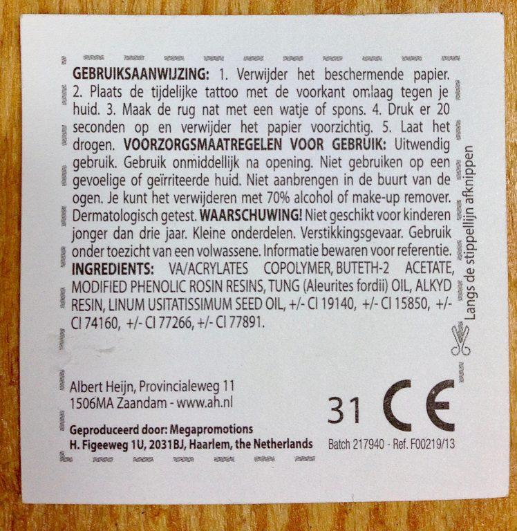 Over De Insecten Tattoos Van De Albert Heyn Monique